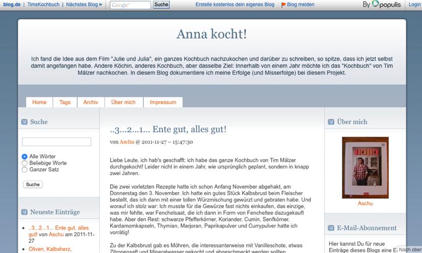 Anna kocht Blog